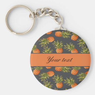Trendy Personalized Pineapple Keychain