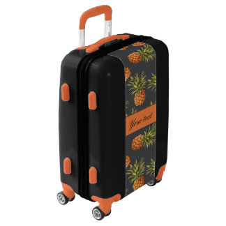 Trendy Personalized Pineapple Luggage