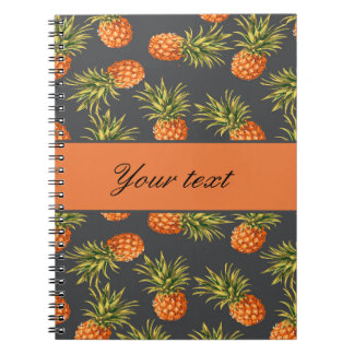 Trendy Personalized Pineapple Notebook