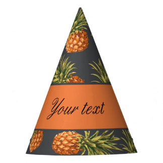 Trendy Personalized Pineapple Party Hat