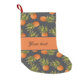 Trendy Personalized Pineapple Small Christmas Stocking