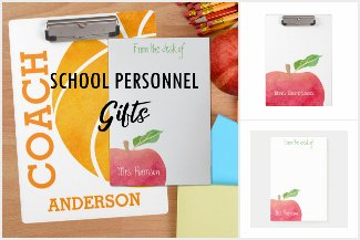 Trendy Personalized Stationary - School Personnel