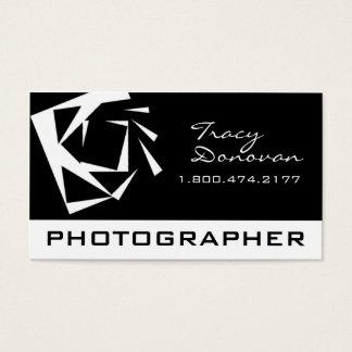 "Trendy Photographer ""Quartz"" black & white Business Card"