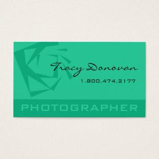 """Trendy Photographer """"Quartz"""" mint Business Card"""