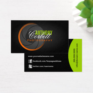 Trendy Photography Business Card