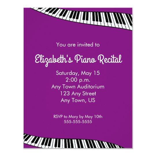 86 Piano Recital Invitation
