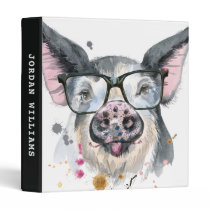 Trendy Pig | Add Your Name 3 Ring Binder