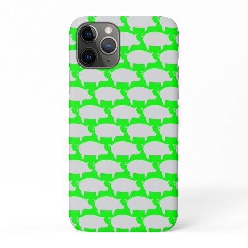 Trendy Pig Editable Green Iphone case