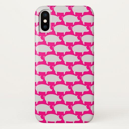 Trendy Pig Editable Pink Iphone case