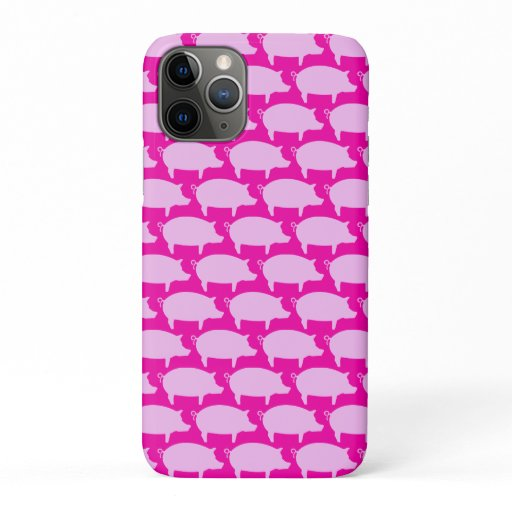 Trendy Pig Editable Purple Iphone case