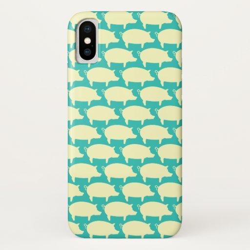 Trendy Pig Editable Teal Iphone case
