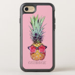 """Trendy pineapple OtterBox symmetry iPhone 8/7 case<br><div class=""""desc"""">Trendy pineapple with pink sunglasses</div>"""