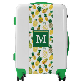 Trendy Pineapple Pattern | Add Your Initial Luggage