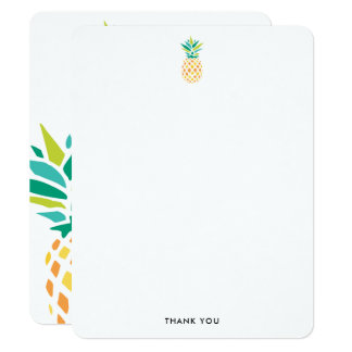 Trendy Pineapples Thank You Notes Card