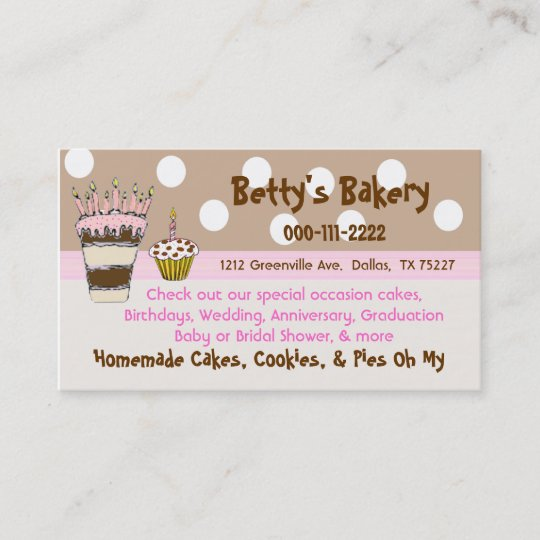 Trendy pink and brown bakery business card zazzle trendy pink and brown bakery business card reheart Images