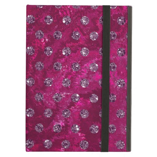 Trendy Pink and faux rhinestones Case For iPad Air