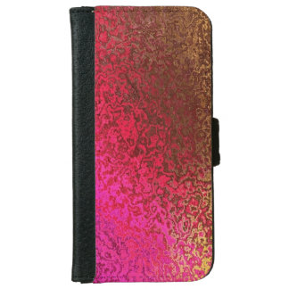 Trendy Pink and Gold Shimmer iPhone 6/6s Wallet Case