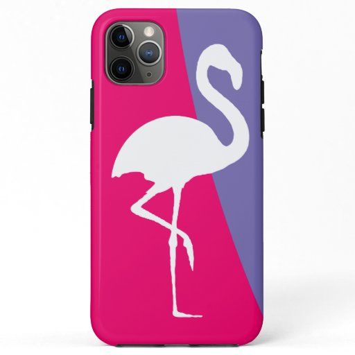 Trendy Pink And Purple Flamingo iPhone 11 Pro Max Case