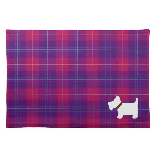 Trendy Pink And Purple Tartan Plaid Placemats Zazzle