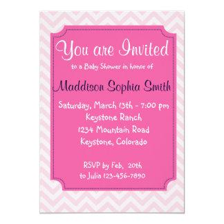 Trendy Pink Baby Shower Invitations