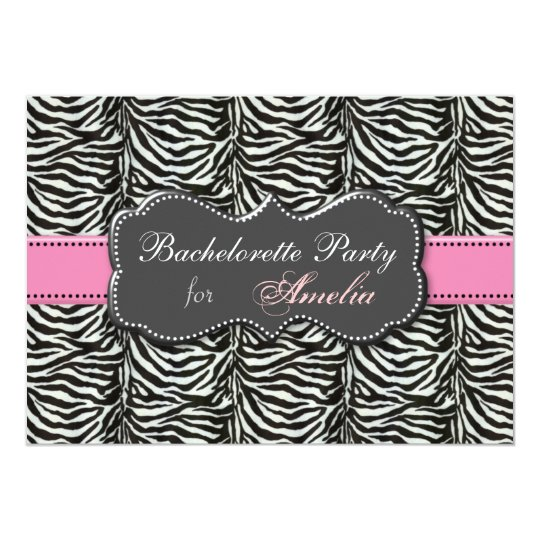 trendy Pink Bachelorette Party Invitations