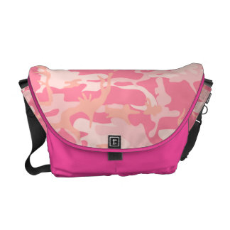 Trendy Pink Camo Courier Bag