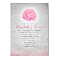 Trendy Pink Camo Wedding Invitations 5&quot; X 7&quot; Invitation Card (<em>$2.01</em>)