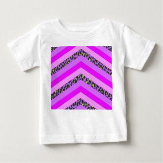 Trendy Pink Cheetah Chevron Animal Pattern Print Baby T-Shirt