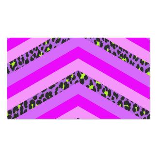 Trendy Pink Cheetah Chevron Animal Pattern Print Business Card