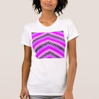 Trendy Pink Cheetah Chevron Animal Pattern Print T Shirts