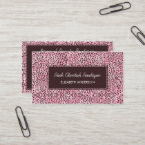 Trendy Pink Cheetah Print Girly Beauty Boutique Business Card