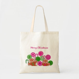 Trendy pink Christmas gingerbreads Tote Bag
