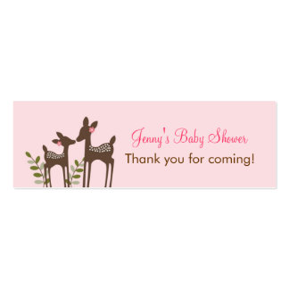 Trendy Pink Deer Forest Favor Tags Gift Tags Business Cards