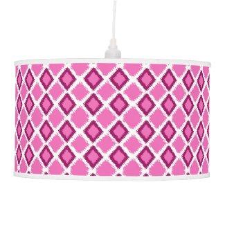 Trendy Pink Diamond Ikat Pattern