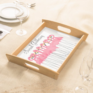 Trendy Pink Flamingo Serving Trays