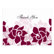 trendy pink floral ThankYou Cards