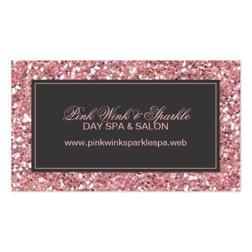Pink Glitter Look Business Card