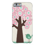 Trendy pink green circles tree bird iPhone 6 case iPhone 6 Case