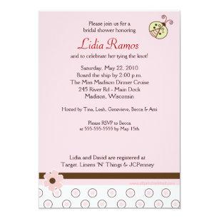 Corset Bridal Shower Invitations