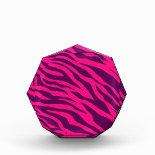 Trendy Pink Purple Zebra Stripes Wild Animal Print Awards