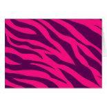 Trendy Pink Purple Zebra Stripes Wild Animal Print Cards
