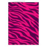 Trendy Pink Purple Zebra Stripes Wild Animal Print Card