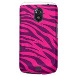 Trendy Pink Purple Zebra Stripes Wild Animal Print Galaxy Nexus Covers