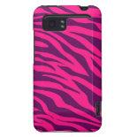Trendy Pink Purple Zebra Stripes Wild Animal Print HTC Vivid Case