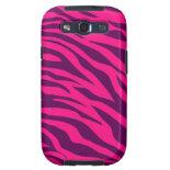 Trendy Pink Purple Zebra Stripes Wild Animal Print Galaxy SIII Cover