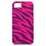 Trendy Pink Purple Zebra Stripes Wild Animal Print iPhone 5 Cases