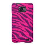 Trendy Pink Purple Zebra Stripes Wild Animal Print Galaxy SII Covers