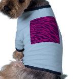 Trendy Pink Purple Zebra Stripes Wild Animal Print Pet Clothing