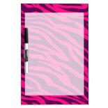 Trendy Pink Purple Zebra Stripes Wild Animal Print Dry-Erase Whiteboard