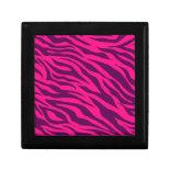 Trendy Pink Purple Zebra Stripes Wild Animal Print Jewelry Box